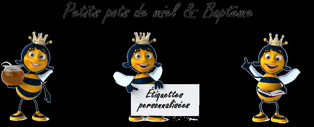 Petit pot de miel baptême